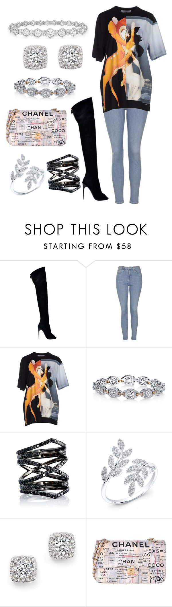 """""""Untitled #1017"""" by astarupthere ❤ liked on Polyvore featuring Tom Ford, Topshop, Givenchy, Harry Kotlar, Eva Fehren, Epoque, Bloomingdale's and Chanel"""