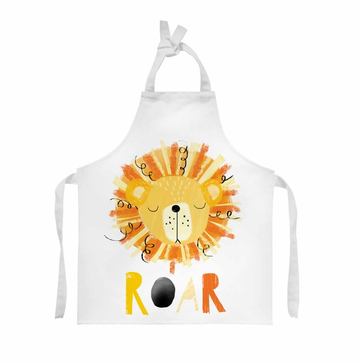 100% Cotton Twill Apron, Child, Plain Straps - Personalised with your child's artwork - perfect for toddler art and craft or baking by ScribbleGifts on Etsy