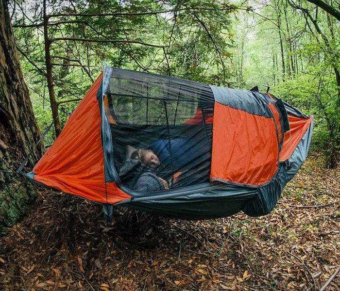 Clark Vertex 2 Person Double Hammock Allows Two Persons To Sleep In Fully Zippered No See Netting Breathable F Hammock Tent Hammock Camping Outdoor Camping