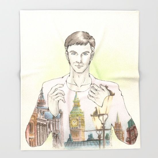 OC: Alexander x London, THROW BLANKET, #society6 @society6  #illustration #England  #comic #manga #painting #lanscape
