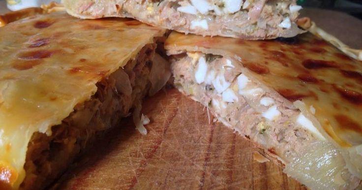 Fabulosa receta para Tarta deatún. Mmmm que rica es la tarta deAtún ... En Casa se la devoran.