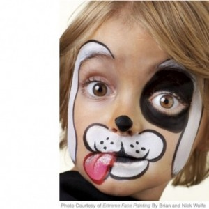 dog face paint #1