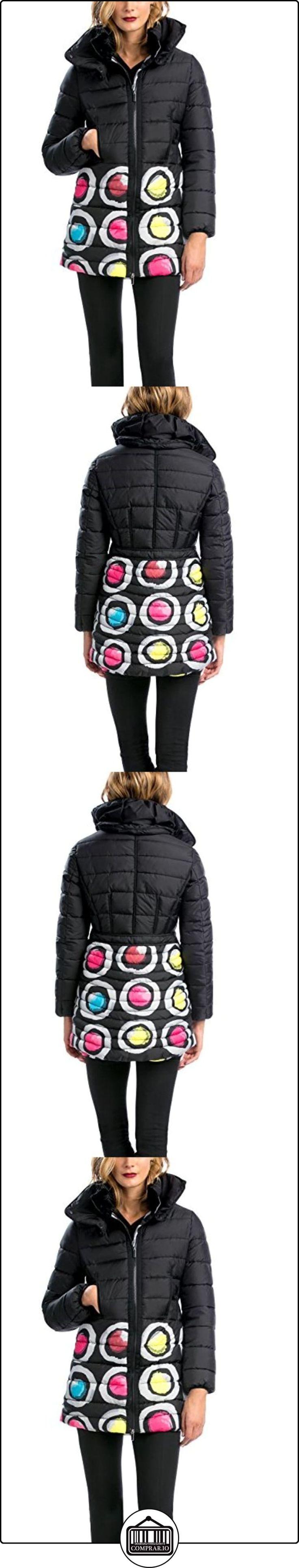 Desigual ABRIG_ARTEMIS - Plumas para mujer, color negro 2000, talla 38  ✿ Abrigos y chaquetas ✿