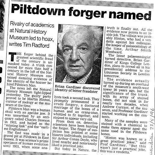 The piltdown man hoax