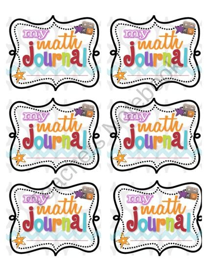 Math Journal Labels from Living Laughing & Loving on TeachersNotebook.com (3 pages)