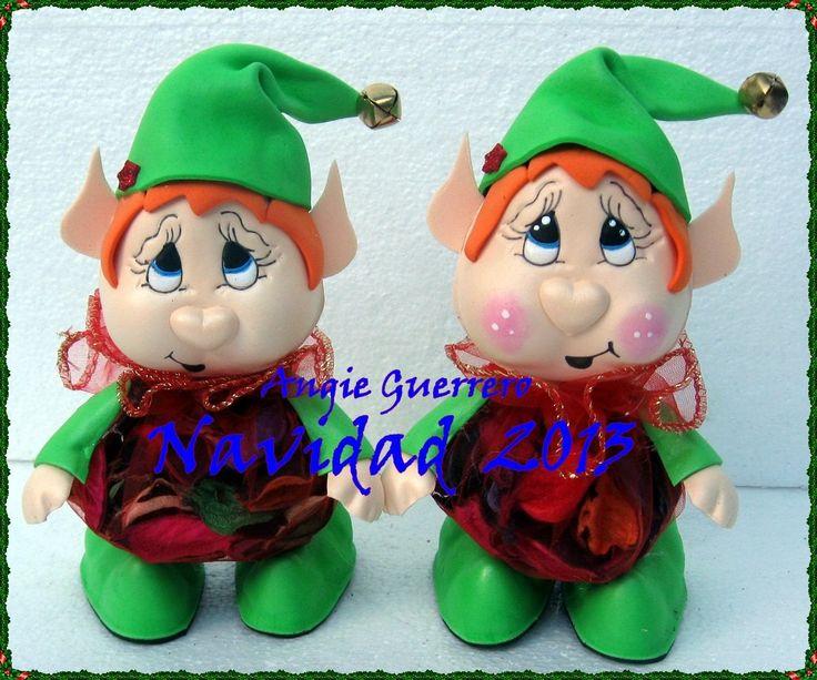 evamolds navidad par duendes dulceros hechos en foami
