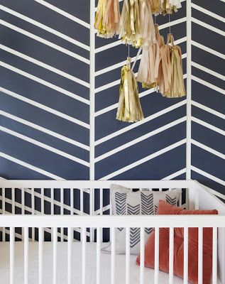 Painted Walls: Abstract Chevron
