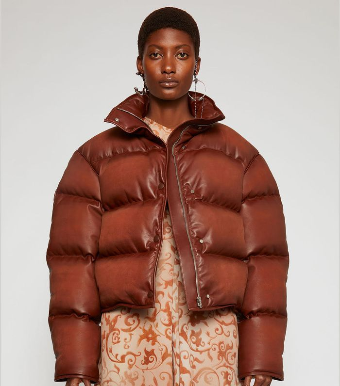 Acne Studios Leather Puffer Jacket Personal Style Who What Wear Winter Jackets