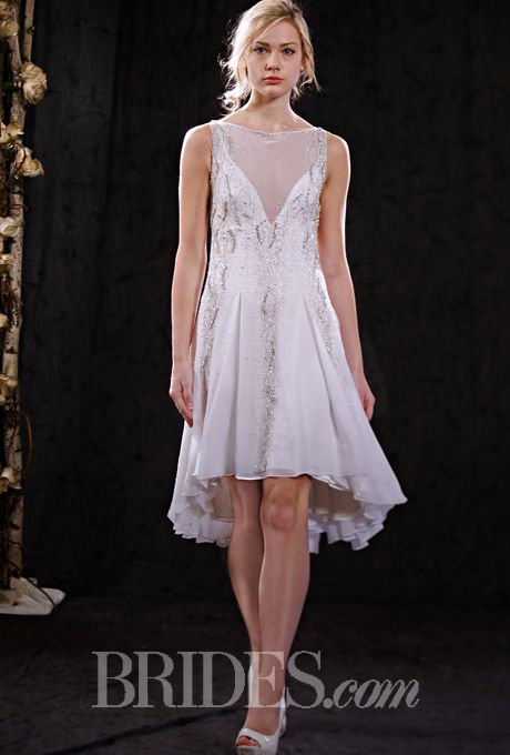 Anne Bowen Wedding Dresses Spring 2015 Bridal Runway Shows Brides.com | Wedding Dresses Style | Brides.com