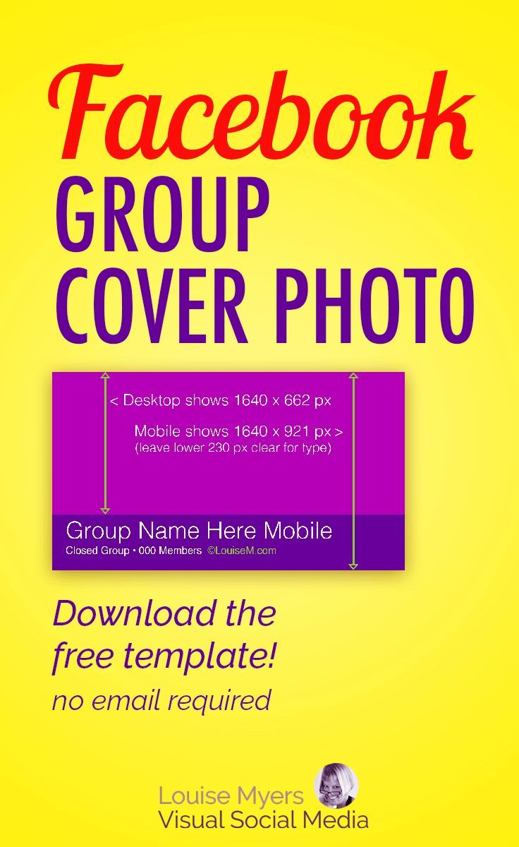 Facebook marketing tips: The FB group cover photo size is always changing! Click to blog and download your FREE template – no email required. It crops differently on every device, so grab this template! #facebookmarketing #SMM #contentmarketing #onlinemarketing #marketingtips #socialmediamarketing
