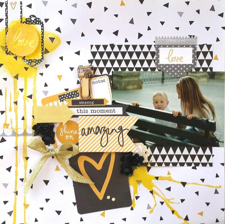 Сочетание чёрного и жёлтого просто создано для страничек в стиле фристайл. Эта коллекция в Scrapbook.kz: http://www.scrapbook.kz/products/74/