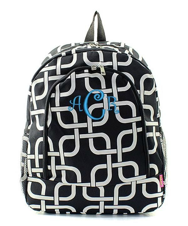 "Personalized 17"" Full Size Backpack Bookbag School Tote Bag"