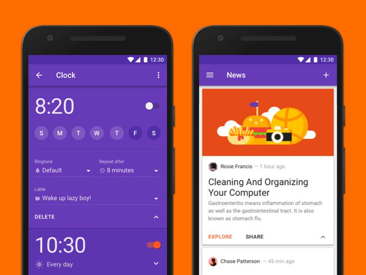 Aloha ✌ Another little part of Material Design Kit, which containts 250 beautiful app templates . Here is an example of a couple screens from Utilities & Tools category. I think they can inspi...