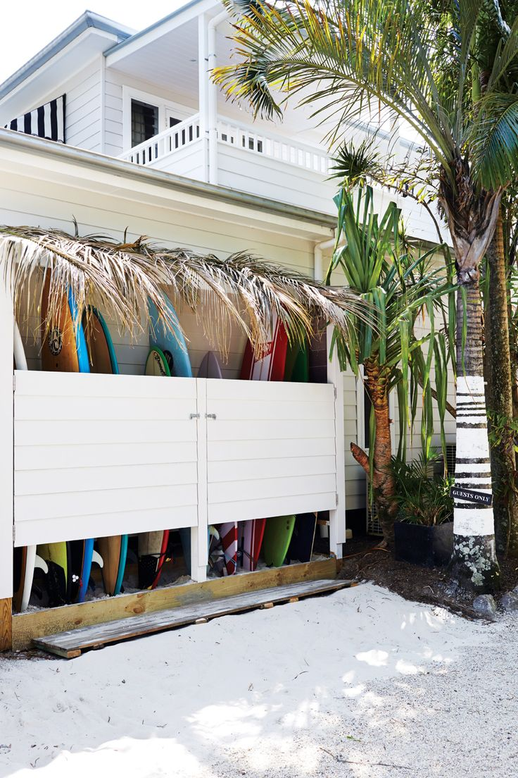 Gear storage novelty.  Needs include paddle boards, sail gear, life vests, bouys, fishing gear