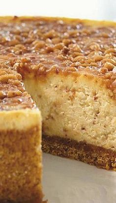 English Toffee Cheesecake   FoodGaZm..