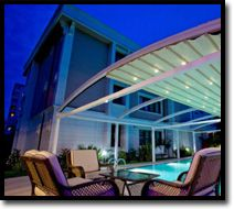 Retractable Roof Systems  Great for all year round entertaining!  Outdoor Shade Blinds Perth  Bozzy Shade Blinds