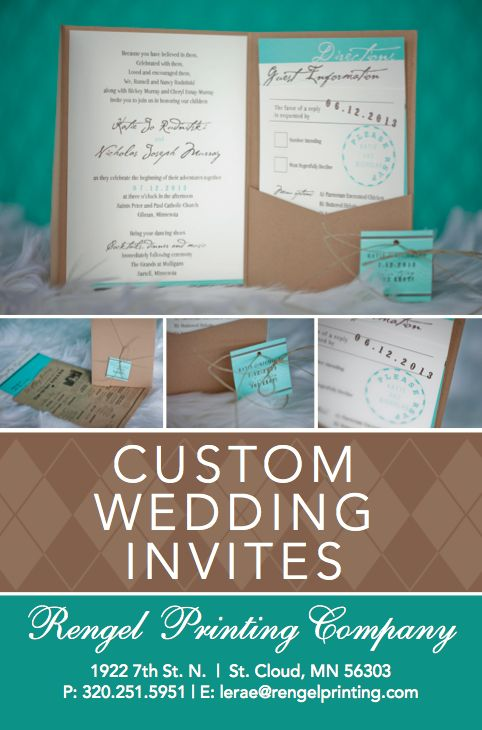 Recently engaged? Create your custom wedding invites with Rengel Printing Company!  http://rengelprinting.com/