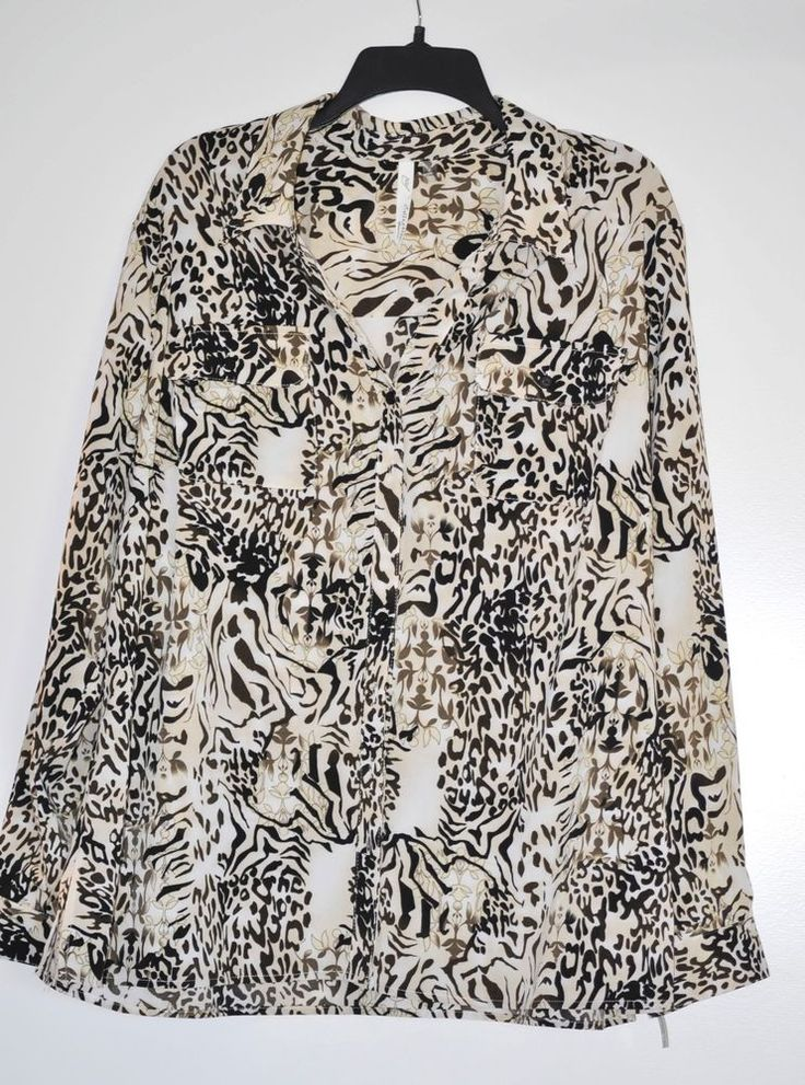 NY Collection Plus Size 3 X Women Blouse Print Paisley 3/4 Sleeve NWT #NYCollection #Blouse #AllOcassion