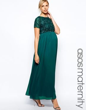 ASOS Maternity Exclusive Embellished Maxi Dress