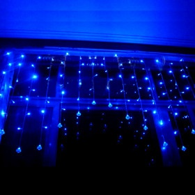 Decor, Hayley Room, Cycling Lights, Ice Cycling, Blue Christmas, Fairies Lights, Invitations Magnificent, Hanging Crystals, Ice Cycle Christmas Lights