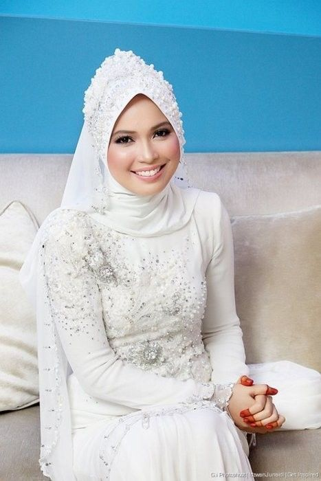 Young pretty muslim bride beautiful muslim brides by www for Wedding dresses for muslim brides