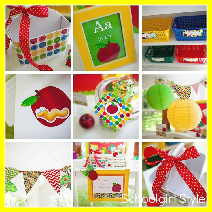details_worms: Apples Classroom Themed, Polka Dots, Classroom Decoration, Primary Color, Primary Apples, Classroom Organizations, Chevron Classroom Themed, Schoolgirl Styles, Apples Themed