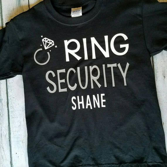 In this listing you get BOTH shirts. One Ring Security and One Petal Patrol. These make the perfect thank you gift for the little helpers in your wedding! Can be either onesie or T-shirt. Can pick the color of the shirts as well. Leave all choices in notes at checkout Sizes: