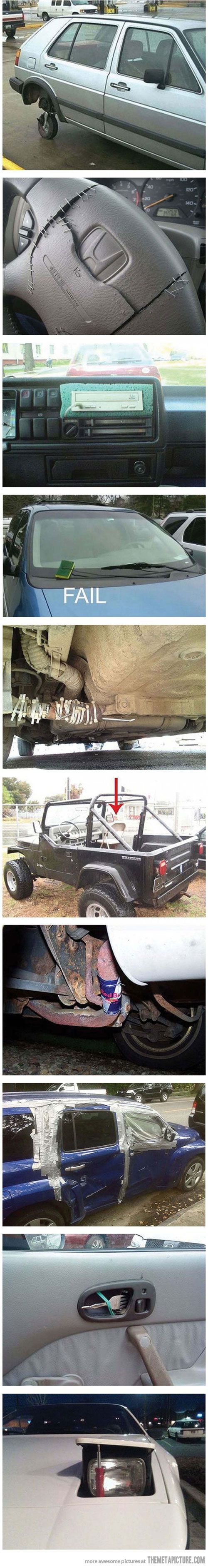 """I want to title this """"You Might be a Redneck if You Fix Your Car Like This...  """""""