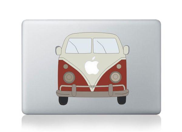 Наклейки для Ноутбука Классика Автобус Этикеты Винила Для Macbook Air Pro наклейка Для Apple, Ноутбук Скины Наклейки Наклейка Для Macbook Air 13