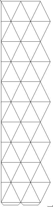 Net decagonal kaleidocycle