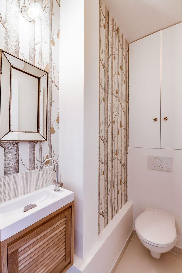 17 meilleures id es propos de salle de bains papier for Papier peint salle de bain