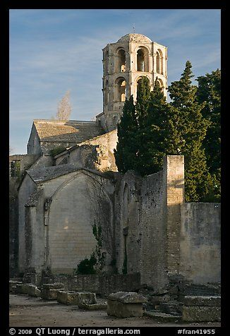 Romanesque Church of Saint Honoratus, Alyscamps. Arles, Provence, France