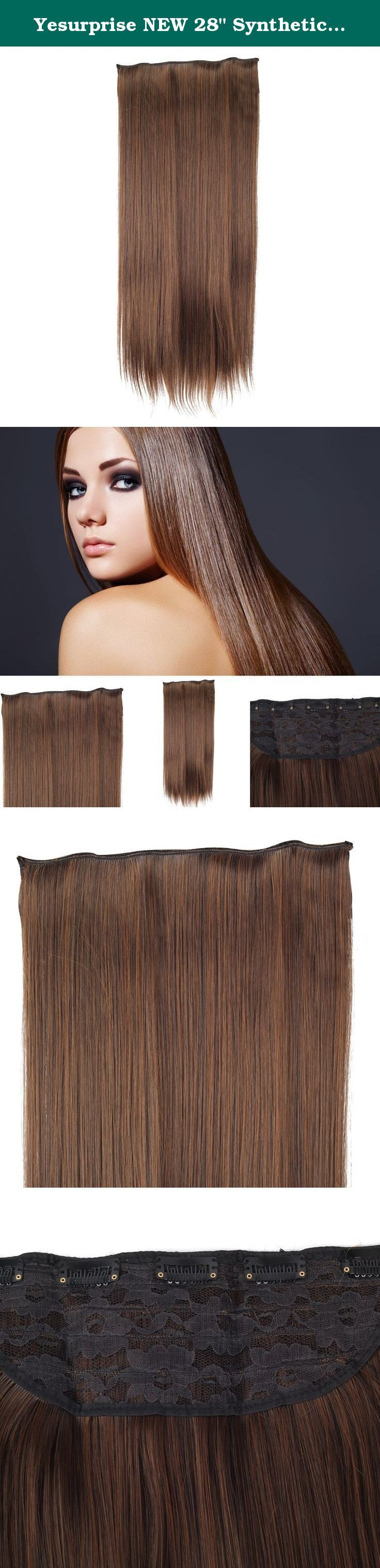 """Yesurprise NEW 28"""" Synthetic 3/4 Full Head Clip in Long Straight Human Made Hair Extensions Charming Sale Trendy Gift #2/30. Features : Hair Style :Straight Long £º28 inches Approx. Material: High quality synthetic Weight : 150g Approx. These extensions are very durable and DIY-able. Without causing damage to your own hair. Pressure Sensitive Clip :Easily and securely clips Please note that different monitors display colors differently. How to care the hair: 1.use a mild shampoo ,rinse…"""