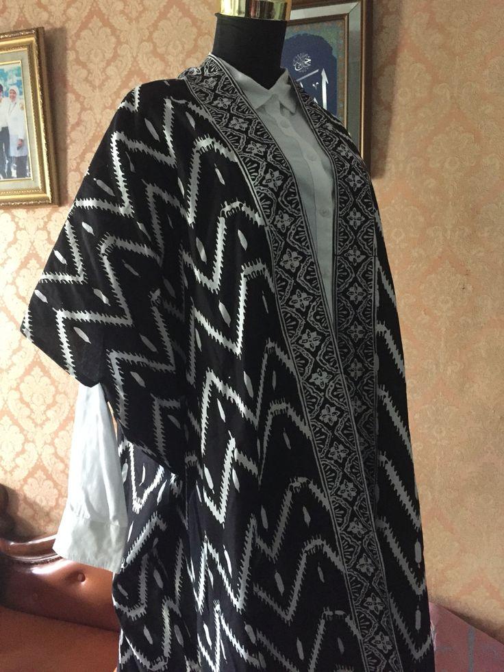 black zigzag batik outer