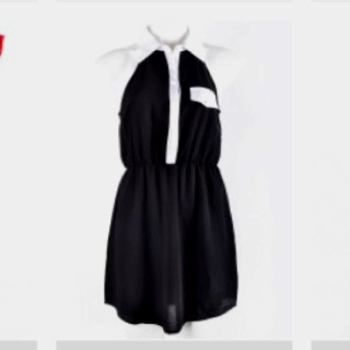 Loving this white on black shirt dress from ally fashion! This sleeveless shirt dress is comfy-chic.. And I'm am obsessed!! Best part....? Itson sale for $29.95! #bargain