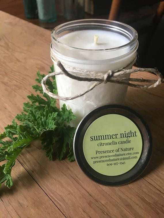 Citronella Candle  Outdoor Candle  Summer Decor  Mason Jar