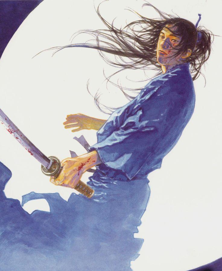 """Takehiko Inoue / 井上雄彦 — ( 1996 – Current ) """"Vagabond"""" / """"バガボンド"""" Illustration [ Sasaki Kojiro / 佐々木 小次郎 ]"""