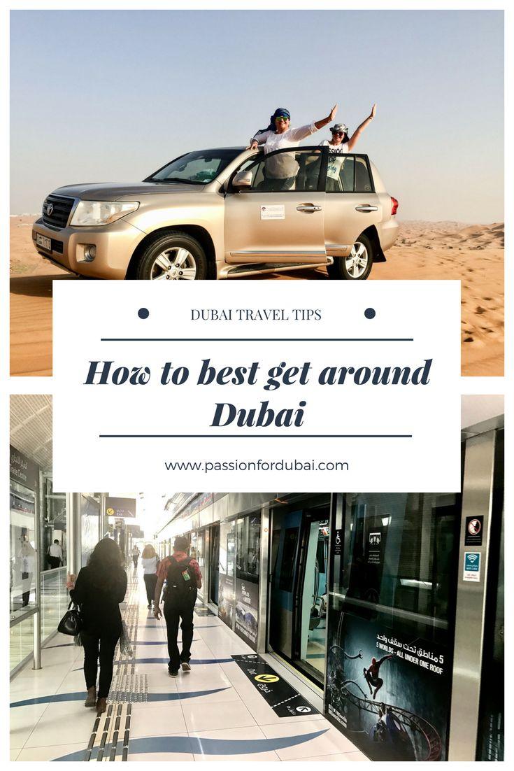 How to get around #Dubai. All transportation options in Dubai