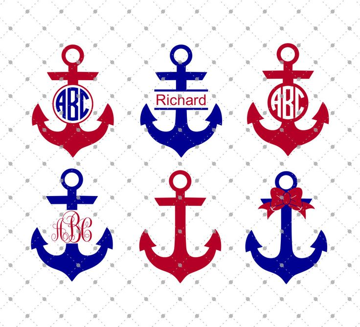 Anchor Monogram SVG Cut Files for Cricut and Silhouette. SVG files for Cricut. Silhouette Cameo files.