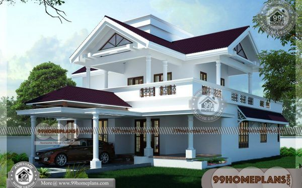 New Indian House Plans 60 Beautiful Two Storey House Designs Online In 2020 Indian House Plans House Plans Indian Homes