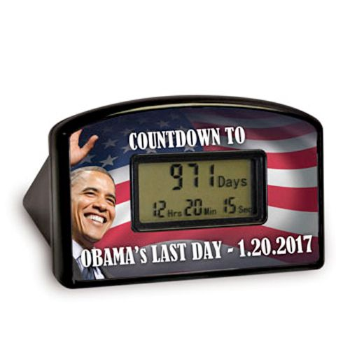 Obama Countdown Clock - Counts down to the last second Obama is in office.