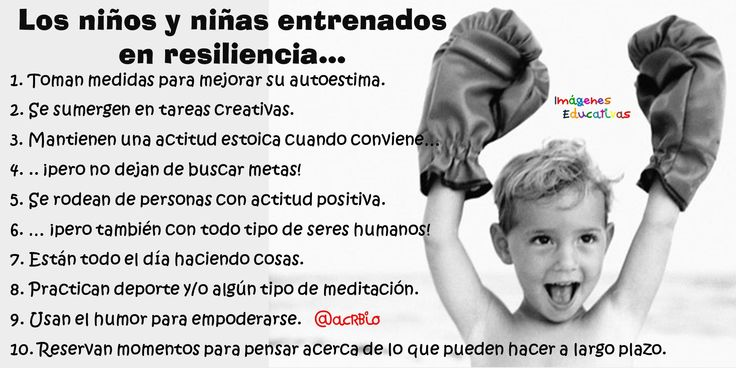 Resultado de imagen para resiliencia en niños