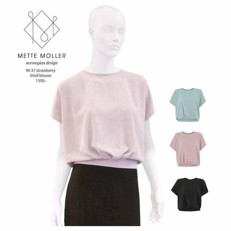 Pepita print on blouse from Mette Møller SS2015 collection. www.mettemoller.no