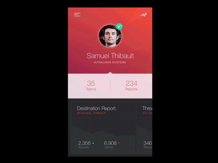 Profile Edit Interaction by Sam Thibaul #UX #UI #interface #dribbble #behance #designer #ramotion ramotion.com #gif