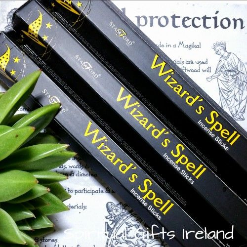 Wizard's Spell Incense Visit our store at www.spiritualgiftsireland.com  Follow Spiritual Gifts Ireland on www.facebook.com/spiritualgiftsireland www.instagram.com/spiritualgiftsireland www.etsy.com/shop/spiritualgiftireland	 We are also featured on Tumblr