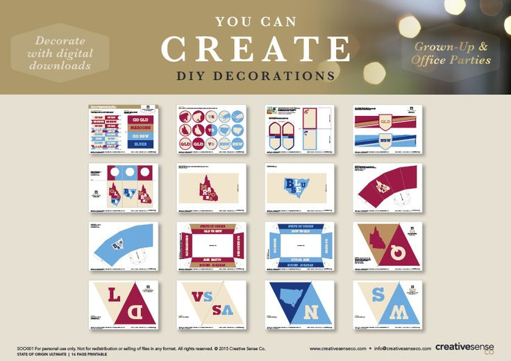 State of Origin Party Decorations | Creative Sense Co