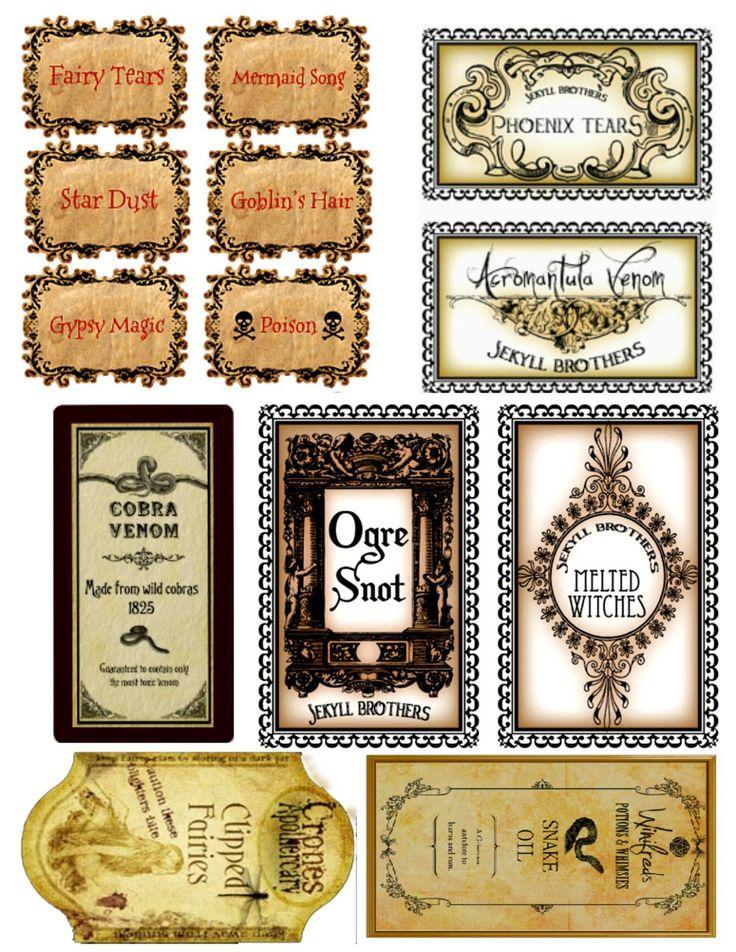 Harry Potter Potion Bottles - The Vintage Storehouse & Company | The Vintage Storehouse & Company
