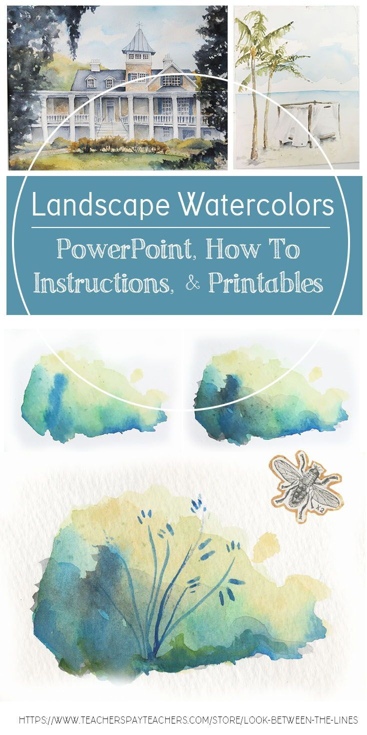 Watercolor Painting Landscapes Visual Art For 8th Grade Or High