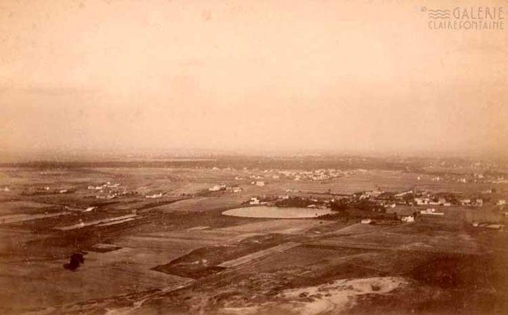Luftbild aus der Zeit zwischen 1882 und 1886: Die Aufnahme zeigt wahrscheinlich die Gegend um Reinickendorf