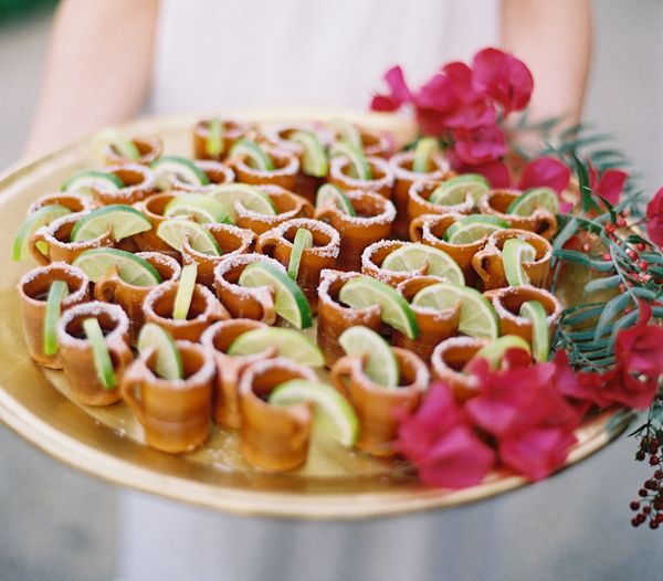 the cutest presentation for mini tequila shots for guests!! // #mexican #party